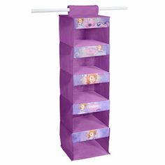 Disney Sofia the First 5-Tier Hanging Organizer, Purple