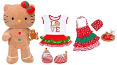 Build-a-Bear-Hello-Kitty-Gingerbread-Doll-Teddy-Santa-Cookies-Apron-Plush-Toys