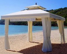 10 X10 Offset Cantilever Umbrella With Screen House