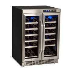 "Thumbnail Image of EdgeStar 36 Bottle 24"" Built-In Dual Zone French Door Wine Cooler"