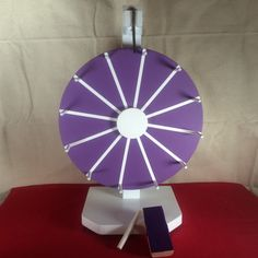 """12"""" Prize wheel. Chalkboard Party wheel. Wheel of fortune. Promote your booth at trade shows."""