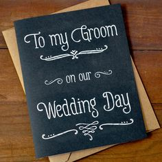 To My Groom On Our Wedding Day  Wedding Day Card by PheasantPress, $3.95