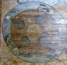 Biserica de lemn din Poienile Izei - Pictura pronaosului: Cele patru vânturi dezlănțuite Religious Paintings, Popular Art, Christianity, Glass, Drinkware, Corning Glass, Yuri, Tumbler, Mirrors