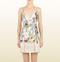 Gucci Flora Infinity print silk georgette top