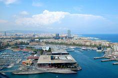 Vista panoràmica del port de Barcelona