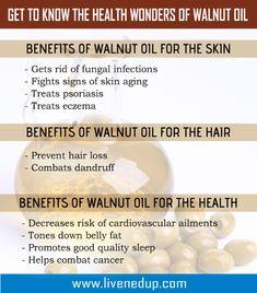 Walnut Oil Health Benefits Health Infographics