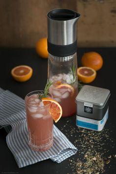 Blood Orange Gin Tea mit Rosmarin und ohne Alkohol {Reklame} | Backbube | Bloglovin'