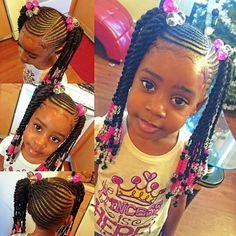 Cute kids braid and twist style