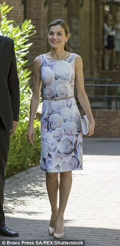 Queen Letizia in Madrid at the Annual Meeting of the Board of the Student Residence
