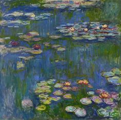 Claude Monet Water Lilies I print for sale. Shop for Claude Monet Water Lilies I painting and frame at discount price, ships in 24 hours. Monet Paintings, Landscape Paintings, Flower Paintings, Abstract Paintings, Abstract Landscape, Renoir, Impressionist Paintings, Fine Art, Water Lilies