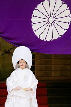 Japanese bride & imperial crest