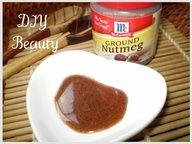 ERASE ACNE SCARS. 1/2 tsp of nutmeg, and a 1/4 tsp of honey. leave on for 20 - 30 min.
