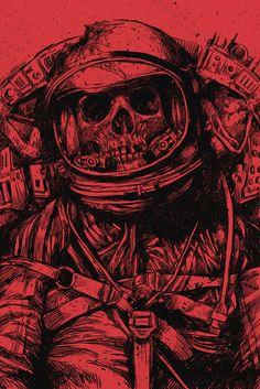 Dead Astronaut ( Red version )  by Carbine