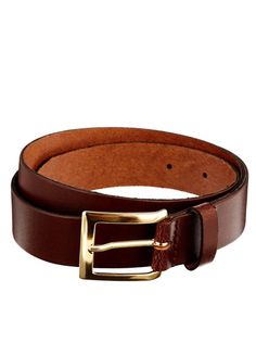 This brown belt might not be a gaudy eye-catcher, but that's what you want in a belt—something solid, traditional, and leather.  Smart leather belt ($17.06) by ASOS, asos.com   - Esquire.com