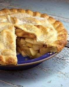 """The perfect recipe for Blue-Ribbon Deep-Dish Apple Pie from the award winning """"Apple Lover's Cookbook."""" Add a slice of sharp cheddar cheese for an authentic New England apple experience."""