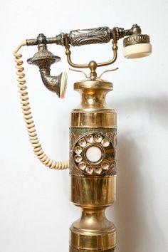 A steampunkesque Brass Telephone                              …