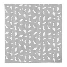 Couvre-lit en coton biologique imprimé Cut Ferm Living - gris