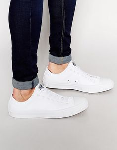 Converse | Converse Chuck Taylor All Star II Plimsolls In White 150154C at ASOS