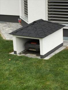 automower garage vor allem gegen hagelsch den sehr wirksam automower rasenroboter. Black Bedroom Furniture Sets. Home Design Ideas