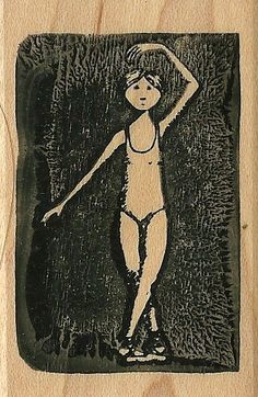 Edward Gorey Kidstamps Ballerina rubber stamp
