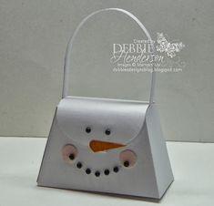 Stampin' Up! Petite Purse Die snowman by Debbie Henderson, Debbie's Designs.