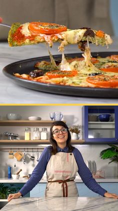 Hoje a Fernanda ensina um jeito diferente e delicioso de fazer pizza utilizando brócolis na massa! Easy Healthy Recipes, Veggie Recipes, Low Carb Recipes, Healthy Snacks, Cooking Recipes, Good Food, Yummy Food, Organic Recipes, Food Videos