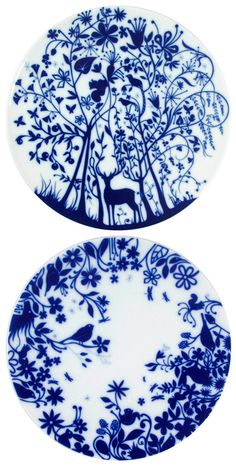 I love Tord Boontje's porcelin Table Stories so much I've just bought 2 of them. There's only 1 left in stock, so if you're into techno-romantacism (or woodland creatures) you'd better get y… Blue And White China, Blue China, Love Blue, China Painting, Ceramic Painting, Ceramic Art, Blue Pottery, Ceramic Pottery, Tord Boontje
