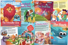 A selection of the children's stories and poems feature in Storytime Issue 59 – like 8 books in Plus story-themed puzzles, activities, art, games, crafts and book recommendations too! Lion Illustration, Jack And The Beanstalk, Summer Slide, Alley Cat, Sports Day, Good Buddy, Page Turner, Reading Levels, High Five