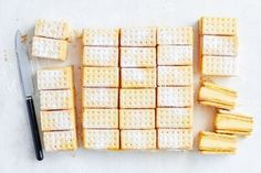 Introducing your new favourite dessert: a super easy and bright custard slice topped with Arnott's Lemon Crisp biscuits. Custard Slice, Lemon Custard, Coconut Slice, Lemon Slice, Lemon Dessert Recipes, Baking Recipes, Lemon Recipes, Cheese Recipes, Sweet Recipes