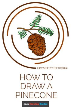 Learn to draw a pinecone. This step-by-step tutorial makes it easy. Kids and beginners alike can now draw a great looking pinecone. Flower Drawing Tutorials, Drawing Tutorials For Kids, Drawing For Kids, Drawing Tips, Art Tutorials, Illustrator Tutorials, Drawing Ideas, Adobe Illustrator, Nature Drawing