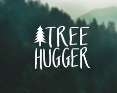 Tree Hugger Decal Car Decal Laptop Decal by DiamondFoxDesigns