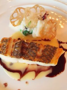 Japanese foods at famous restaurant in Kyoto.  Fish/yummy/beautiful dish