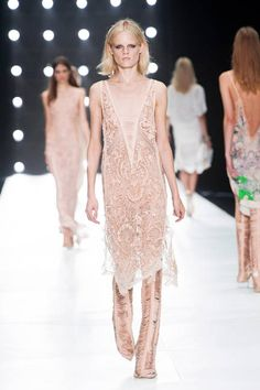 Roberto Cavalli Spring 2014 // Learn how to hand render LACE: http://www.universityoffashion.com/lessons/rendering-lace/