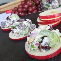 Chicken Salad on Apple Rounds | Clean Food Crush