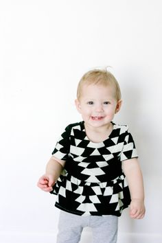 girl's PIPPA peplum knit top 3M to 10 | see kate sew