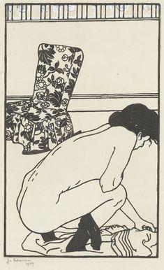 Design for the Fallen Pin (L'épingle tombée) from the series Toilettes, 1907, Jean-Emile Laboureur, Van Gogh Museum, Amsterdam