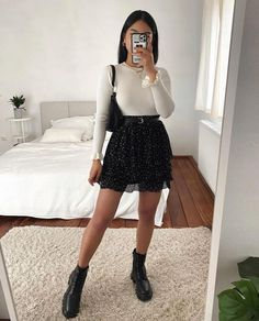 Girly Outfits, Pretty Outfits, Stylish Outfits, Fall Outfits, Cute Outfits, Cute Fashion, Look Fashion, Girl Fashion, Fashion Outfits