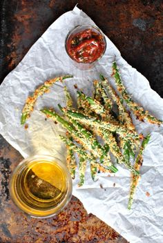 Baked Asiago Green Bean Fries