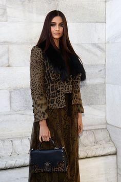 Sonam Kapoor in Roberto Cavalli: Front Row - Milan Fashion Week Womenswear Autumn/Winter 2012/2013