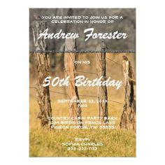 Old Rustic Country Fences W Birds Birthday Party Custom Invitations This party invitation features landscape nature photography from the Great Smoky Mountain National Park in fall. This photo has a line of country fence with birds on it. It has a color and black and white front and black and white back. Great for a smokies, autumn, country, rustic, lodge or cabin birthday party. A country guy or gal, park lover, ranger, outdoorsman or old timer will love this!