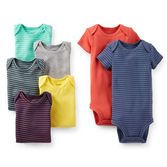 Keep your baby boy looking cute with a fresh bodysuit for every day of the week. Made for our cutest (and messiest!) babies, you can count on soft cotton and expandable shoulders for easy changes. Bright boyish colors match our 2-pack pants, too!