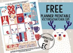Free Printable It's My New Year Planner Stickers from Victoria Thatcher