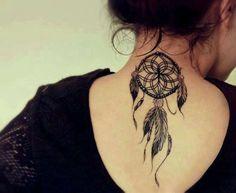 35 Splendid Back of Neck Tattoo Designs - Sortra