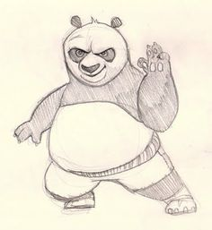 How to draw Po from Kung Fu Panda. Learn to draw cartoon, Kung Fu Panda Po. This video shows you how to draw a character from Kung Fu Panda. Easy Drawings Sketches, Disney Drawings, Cartoon Drawings, Animal Drawings, Pencil Drawings, Karate, Cartoon Panda, Cute Cartoon, Kung Fu Panda Personajes