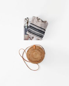 TRENDING NOW: The simple round rattan shoulder bag Trending Now, Rattan, Straw Bag, Shoulder Bag, Simple, Bags, Collection, Wicker, Handbags