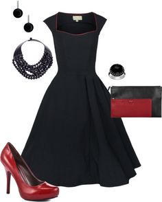 """Black and Red"" by panther9294 on Polyvore"