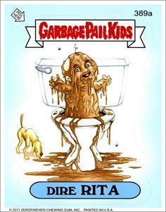 Garbage pail kids dire rita