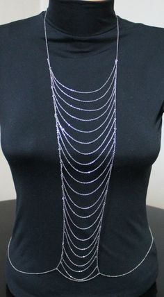 SILVER LADDER VS inspired Body Chain by HelloScarves on Etsy, $36.00