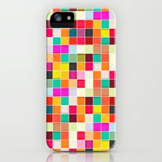 Colorful Rectangles iPhone & iPod Case by Danny Ivan - $35.00