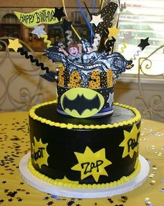 Batman birthday Super hero Birthday Super hero party cake
